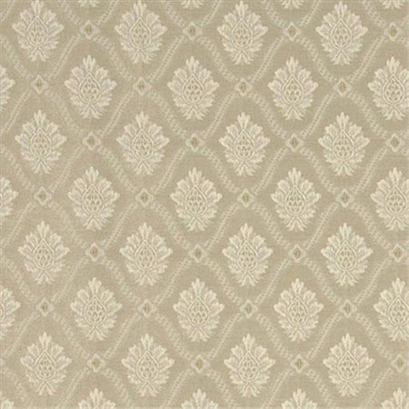 Designer Fabrics A490 54 in. Wide Beige And Ivory Two Toned Brocade Medallion Upholstery Fabric