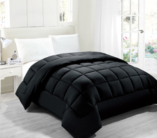Legacy Decor Down Alternative Twin size Comforter, Hypoallergenic anti-dust mite anti-bacterial, Navy Blue Color