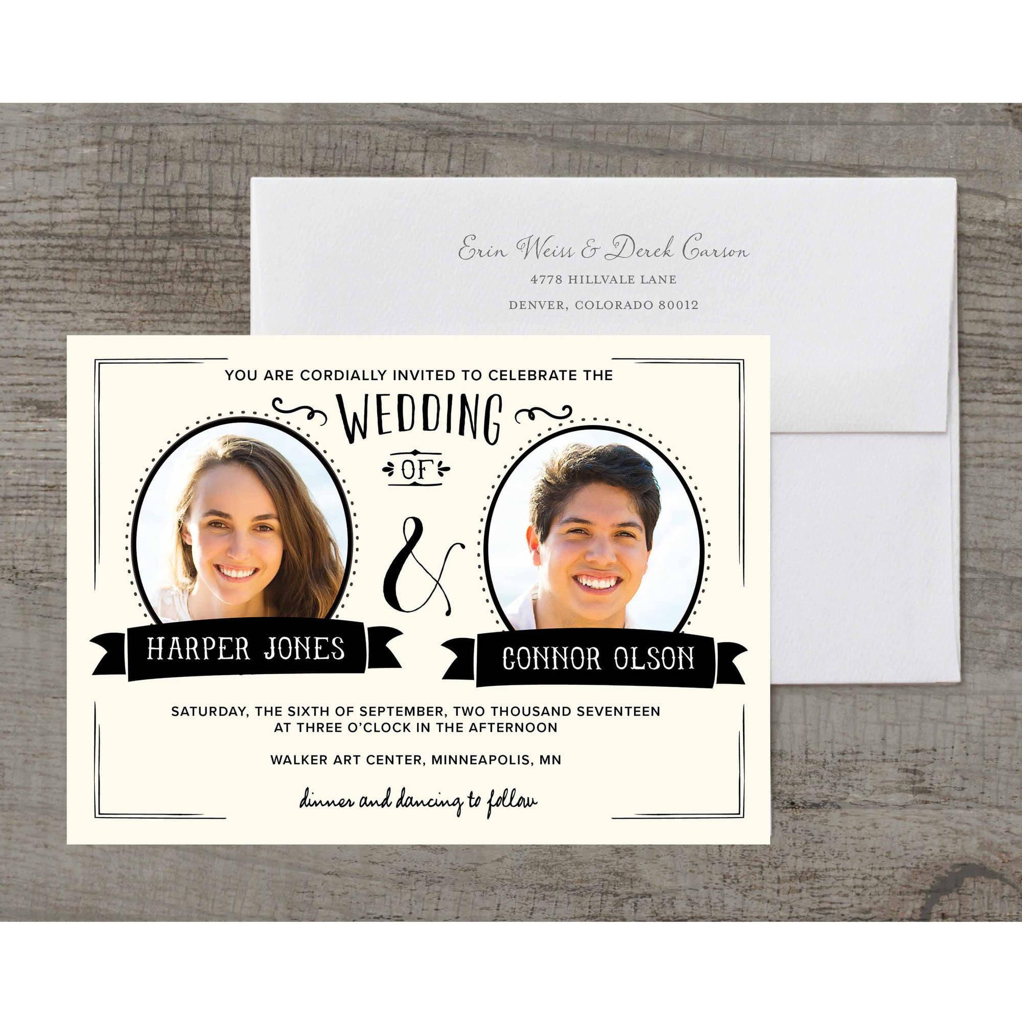 Picture Perfect Deluxe Wedding Invitation