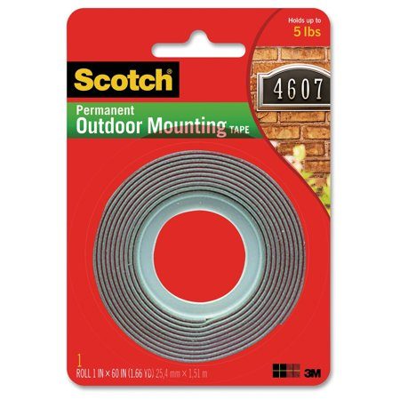 3m 4011 scotch exterior mounting tape. Black Bedroom Furniture Sets. Home Design Ideas