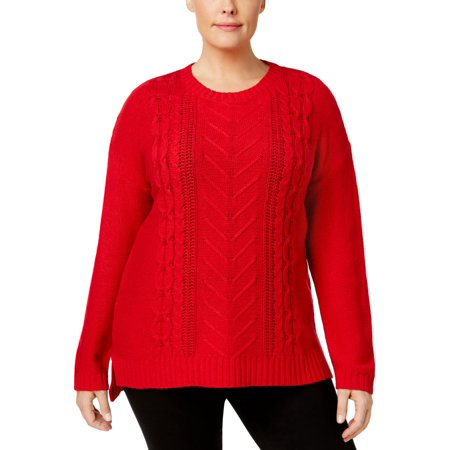 Cable Tunic Sweater (NY Collection Womens Plus Cable Knit Crewneck Tunic)
