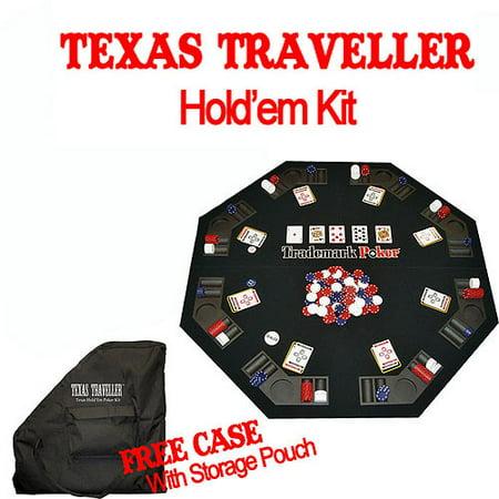 Poker Texas Traveller Table Top and 300 Chip Travel Set - Walmart.com