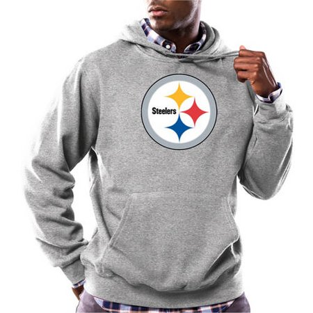 NFL Mens Pittsburgh Steelers Tek Patch Fleece Hoodie by