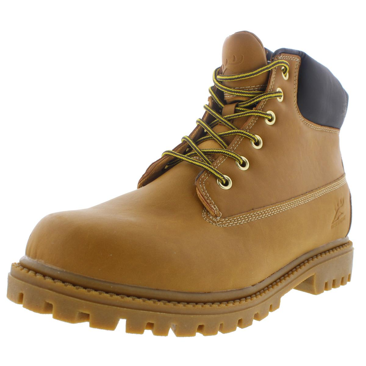 Deer Stags Mens Tractor Leather Water Resistant Work Boots by Deer Stags