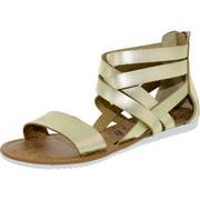 Blowfish Women's Ella Gold Dcpu Ankle-High Synthetic Sandal - 9M