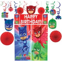 PJ Masks Decorating Supplies, Include Honeycombs, Swirls, Fans, and Props