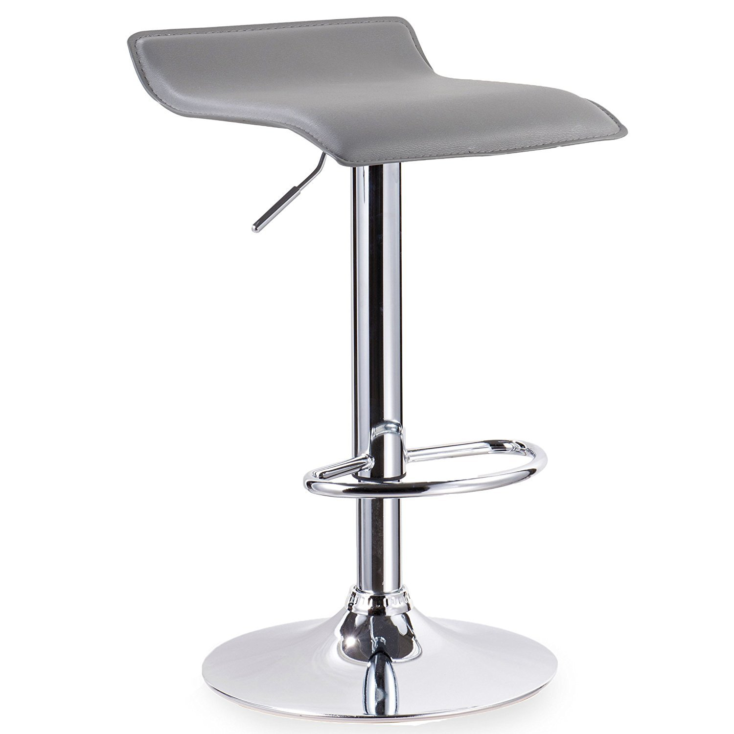 Leick Furniture 10042GR Adjustable Swivel Stool-Set of 2 Bar, Gray by Leick Furniture