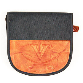 Virginia Cavaliers Leather Nylon Embossed CD Case by