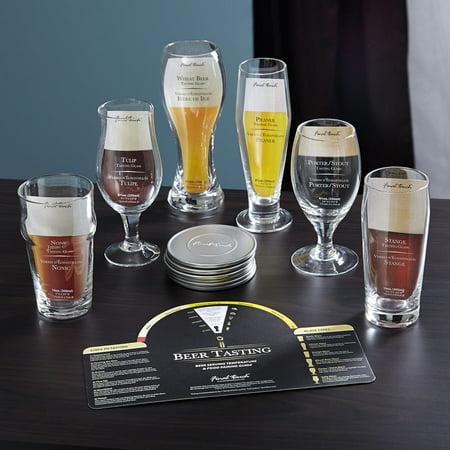 Aspiring Connoisseur Beer Tasting Set, 13 Pieces (Beer Tasting Flight Set)