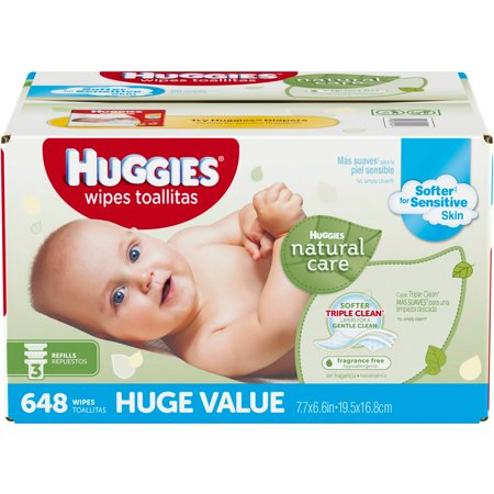HUGGIES Natural Care Baby Wipes, Refill Pack, Fragrance ...