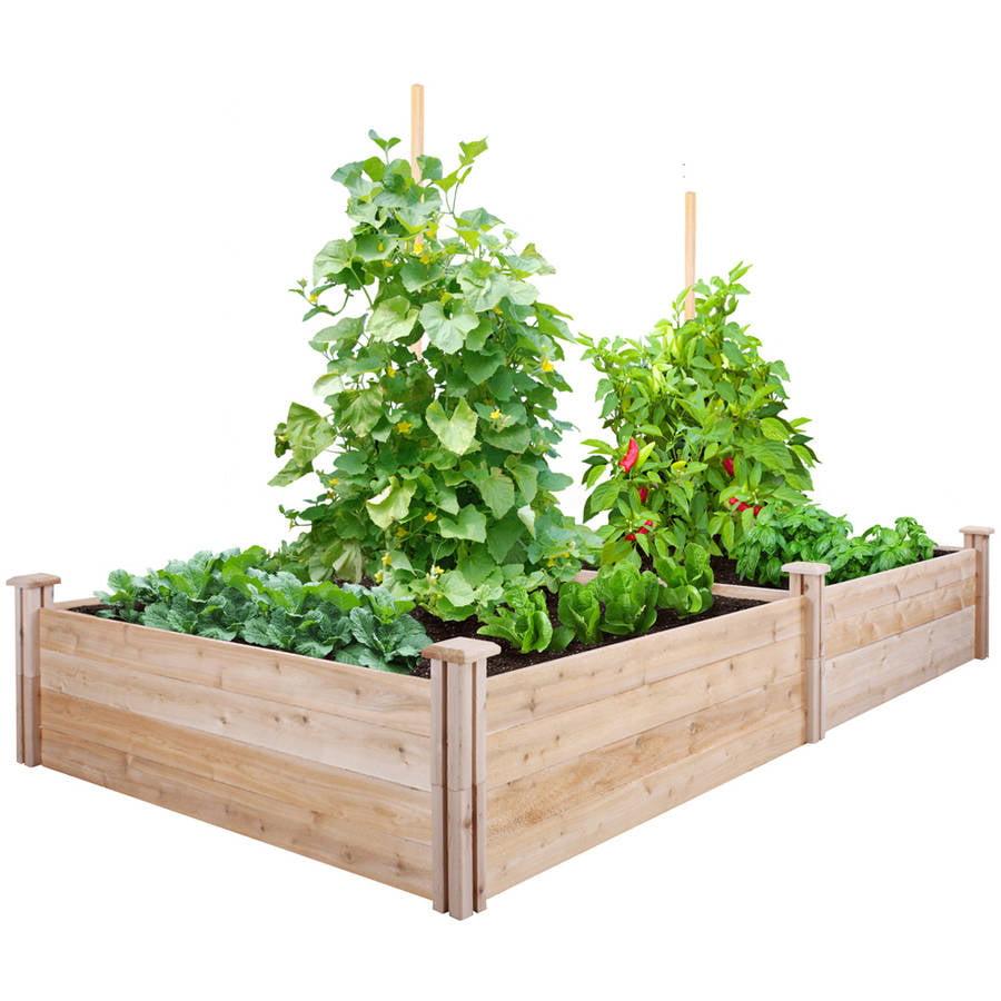 Greenes Fence 4 39 X 8 39 X 14 Cedar Raised Garden Bed