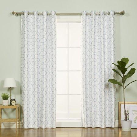 Best Home Fashion, Inc. Faux Silk Quatrefoil Geometric Blackout Thermal Grommet Single Curtain Panel