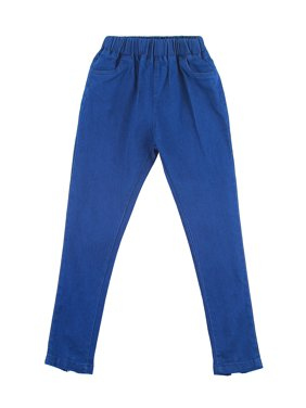 Richie House Girls' Dark Blue Stretch Jeans RH0322