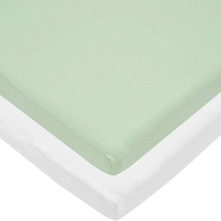 Your Choice TL Care 100 Percent Cotton Jersey Knit Cradle Sheet, 2 Pack Value Bundle 2 Pack Flat Sheets