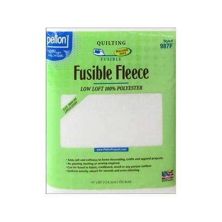 Wash Raw Fleece (Pellon Fleece Fusible Poly 45x60 Pkg White)