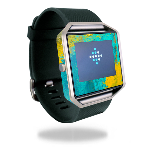 Skin Decal Wrap for Fitbit Blaze cover skins sticker watch Acrylic Blue