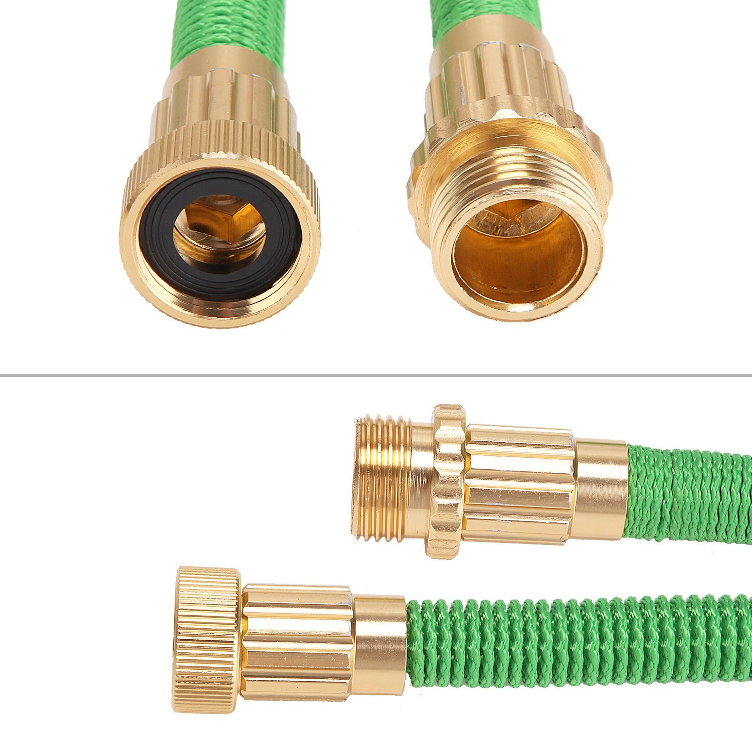 100ft Expanding Hose with 8 Functions Sprayer, Expandable Garden Hose with Strongest TPS,... by