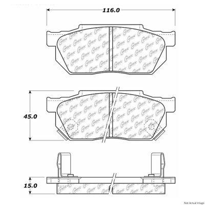 centric (105.02560) posi quiet brake pad, ceramic