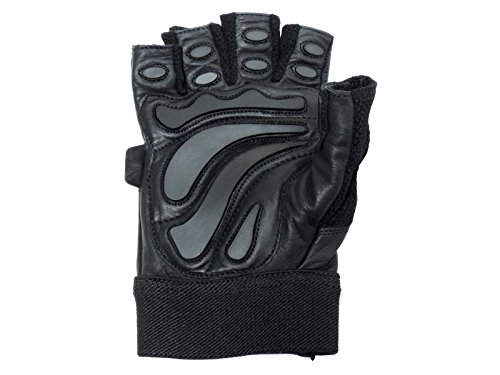 Contraband Black Label 5890 Premium Leather Standard Style Gloves w//Rubber Xtreme Traction Pads