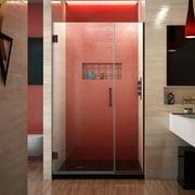 DreamLine Unidoor Plus 42 1/2 - 43 in. W x 72 in. H Frameless Hinged Shower Door in Oil Rubbed Bronze