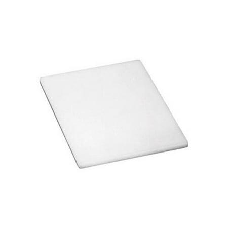 Winco - CBWT-610 - 6 in x 10 in x 1/2 in White Cutting Board