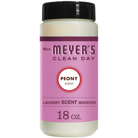 Mrs. Meyer's Clean Day Laundry Scent Booster, Peony Scent, 18 ounce bottle
