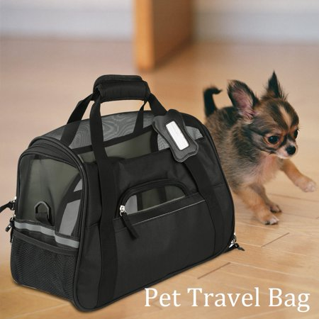 Hilitand Breathable Pet Outdoor Carrier Puppy Dog Travel Bag Removable Bearing Plate Handbag
