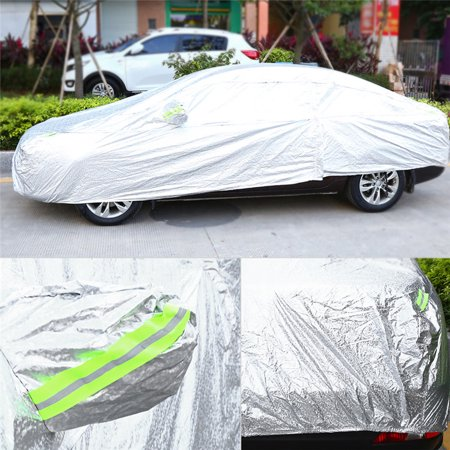 Anauto Aluminum Coating Full Car Cover Outdoor Indoor Waterproof Sun UV Dust Rain Resistant Protection