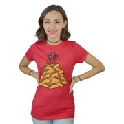 Marvel Deadpool And A PIle of Tacos Women's Red T-Shirt NEW Sizes S-XL
