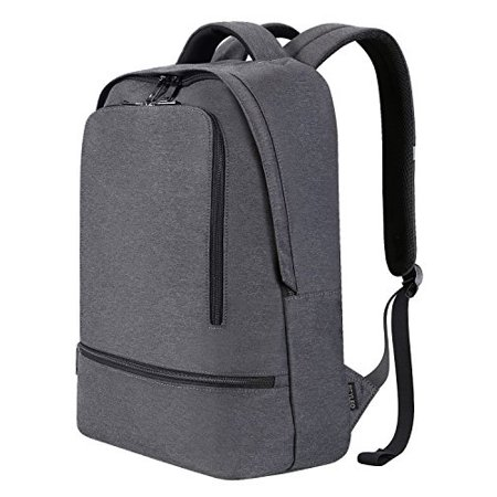 3cc2dd494e52 REYLEO - Business Laptop Backpack Men Women School Bag Casual Daypack Water  Resistant Rucksack Fits up to 14 inch Laptop for College Work Travel (Grey)  ...