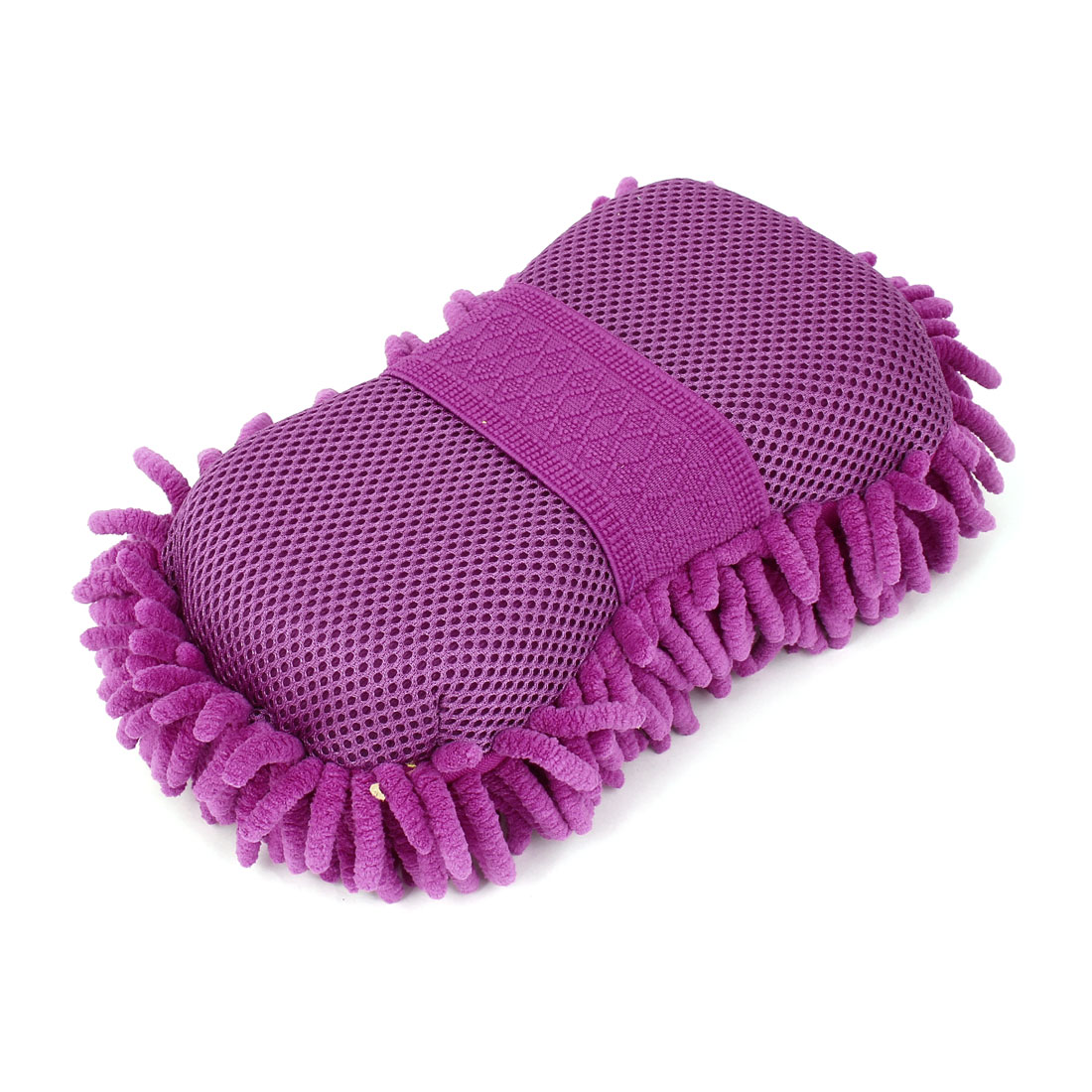 Microfiber Chenille Cleaning Tool Car Care Washing Brush Sponge Pad Purple