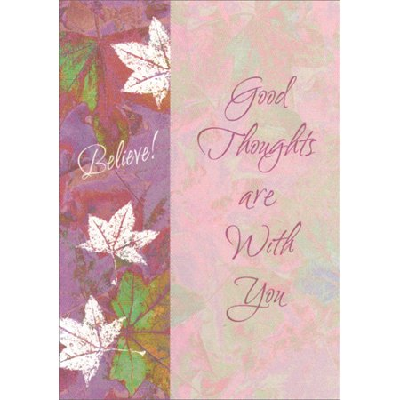 Freedom Greetings Purple Believe Leaves Bookmark Inspirational Encouragement Card