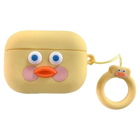 AkoaDa Cute Cartoon Duck Silicone Airpods Pro Case Protective Cover With Ring Buckle For Apple Airpods Pro Charging Case(Only Case,No Airpods Pro) AkoaDa Cute Cartoon Duck Silicone Airpods Pro Case Protective Cover With Ring Buckle For Apple Airpods Pro Charging Case(Only Case,No Airpods Pro)