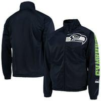 Seattle Seahawks G-III Sports by Carl Banks Synergy Track Full-Zip Raglan Jacket - College Navy