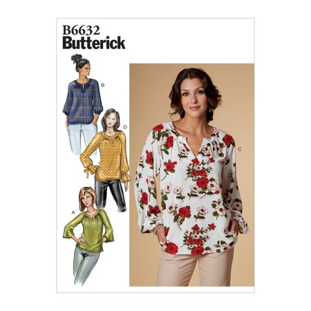 Butterick Pattern Misses' Top Sizes 14-16-18-20-22