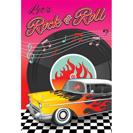 I Love Rock and Roll 'Classic 50s' Invitations w/ Envelopes (8ct) (Rock And Roll Birthday Invitations)