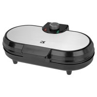 Deals on Kalorik Black and Stainless Steel Double Belgian Waffle Maker