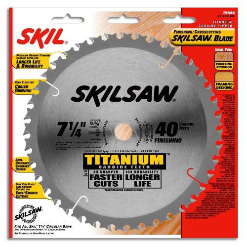 SKILSAW 75940 7-1/4 in. 40-Tooth Titanium Finishing Blade