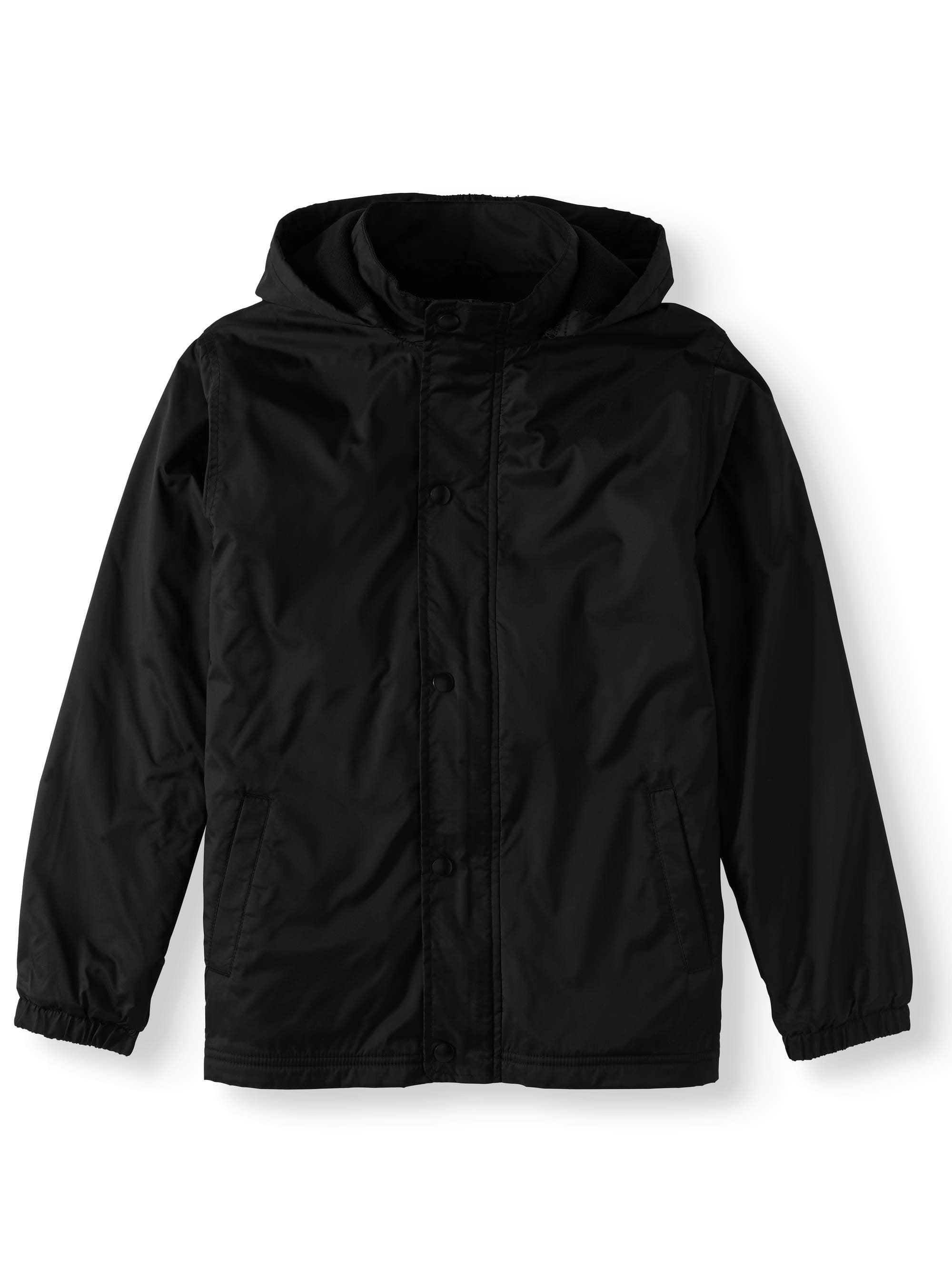 Boys School Uniform Removable Hood Jacket
