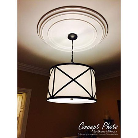 """Ekena Millwork CM16AD Adonis Ceiling Medallion, 16 1/8""""OD x 3 5/8""""ID x 1""""P (Fits Canopies up to 10 1/4""""), Factory Primed - image 3 de 5"""