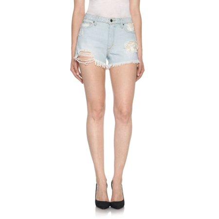 Womens Light Blue Short (JOE'S Womens Light Blue Frayed Cropped Short  Size: 30 Waist)