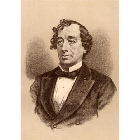 Posterazzi DPI1857304LARGE Benjamin Disraeli 1St. Earl of Beaconsfield 1804-1881. British Statesman & Author Poster Print, Large - 24 x 36 - image 1 de 1