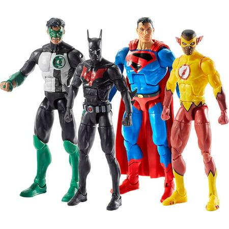 DC Multiverse Lobo Series Batman, Kyle Rayner, Kid Flash & Superman Set of 4 Action Figures