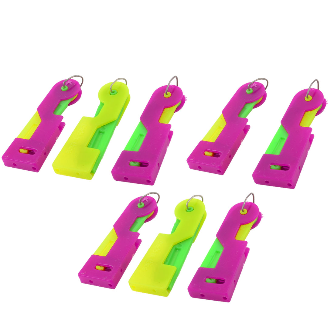 8 Pcs Plastic Assorted Color Inserter Sewing Needle Threader