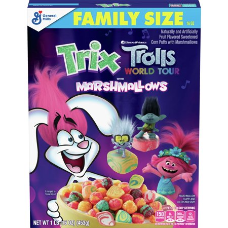 Trix Trolls with Marshmallows Breakfast Cereal - 16oz - General Mills