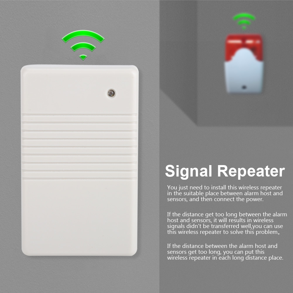 433Mhz Wireless Signal Repeater Transmitter for Home House Security Alarm System,Signal Repeater, Signal Repeater for Security Alarm System
