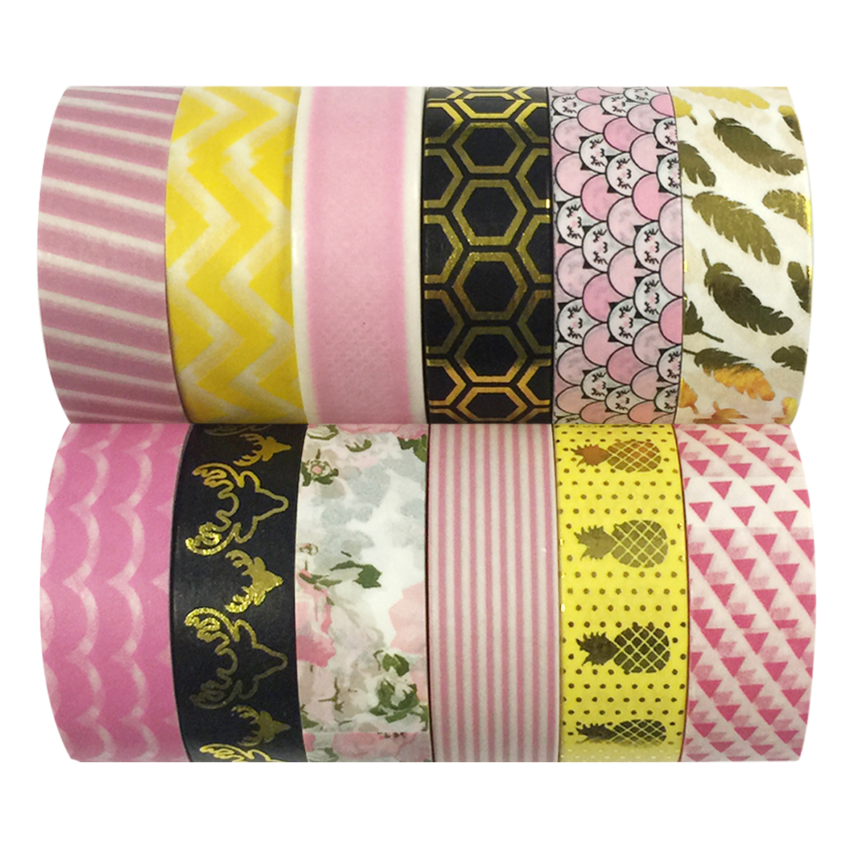 Wrapables® WPSET52 Washi Masking Tape Collection (Set of 12)