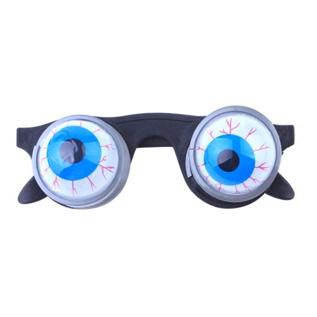 Funny Disguise Glasses Goo Goo Eye Glasses Spring Eyeball Glasses for Halloween Costume Party