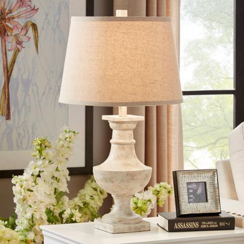 iNSPIRE Q Hyperion Sanded Off-white 1-light Accent Table Lamp by  Artisan