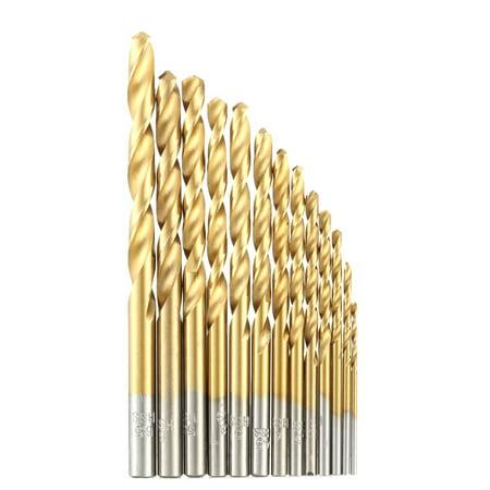 13pcs/set HSS Plating Titanium Twist Drill Bit Set Metric System 1.5-6.5mm High Quality Woodworking Wood Metal Drilling